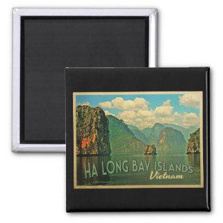Ha Long Bay Islands Vietnam Square Magnet