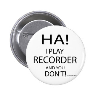Ha Recorder 6 Cm Round Badge