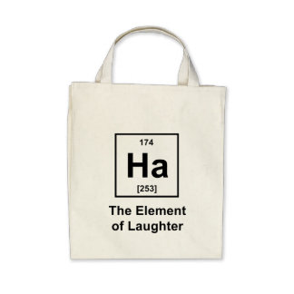 Ha The Element of Laughter Canvas Bags