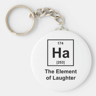 Ha, The Element of Laughter Basic Round Button Key Ring