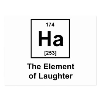 Ha, The Element of Laughter Postcard