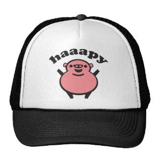 haaapy - happy pig mesh hat