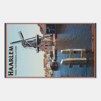 Haarlem - Adriaan Windmill Rectangular Sticker