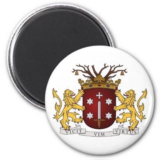 Haarlem wapen, Netherlands 6 Cm Round Magnet