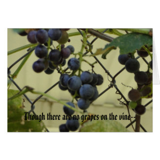 Habakkuk 3;17,18, Grapes Card
