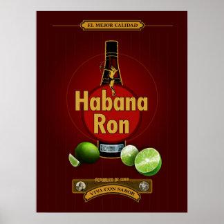 Habana Ron Poster