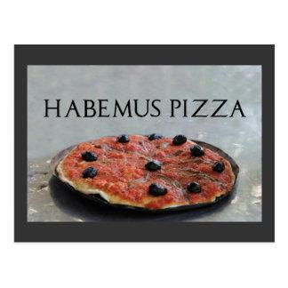Habemus Pizza Party Invitation Postcard