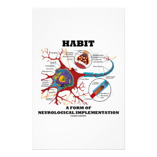 Habit A Form Of Neurological Implementation Neuron Stationery Paper