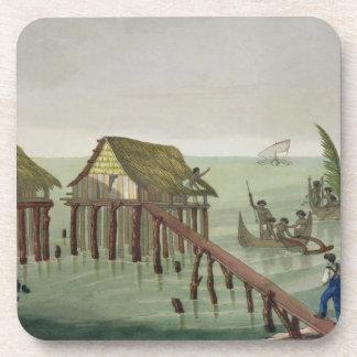 Habitations of the Papu Tribe, Rawak, plate 22 fro Coaster