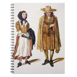 Habits of Quakers, 1675 (coloured engraving) Notebooks