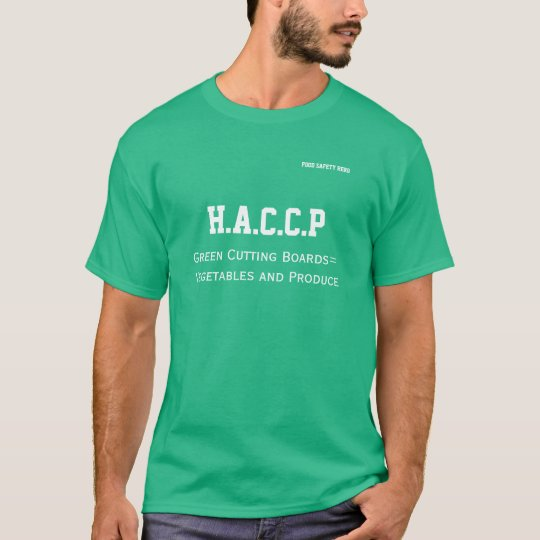 HACCP Tshirt Green Cutting Board