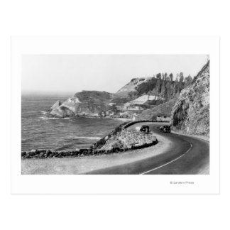 Hacenta Head Lighthouse and Oregon Coast Highway Postcard