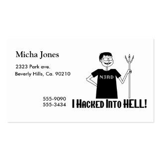 Hacked Into Hell Nerd Pack Of Standard Business Cards