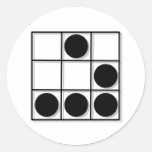 Hacker Emblem Round Stickers