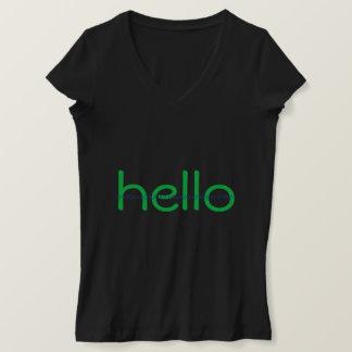 Hacker Hello and Bye Binary Message Tee