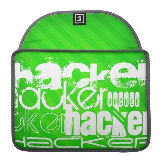 Hacker; Neon Green Stripes Sleeves For MacBook Pro