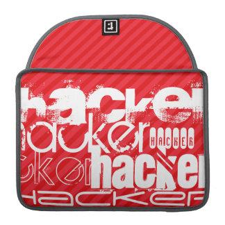 Hacker; Scarlet Red Stripes Sleeves For MacBook Pro
