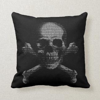 Hacker Skull and Crossbones Cushion