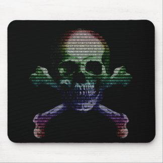 Hacker Skull and Crossbones Mouse Mat