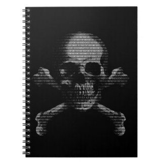 Hacker Skull and Crossbones Notebook
