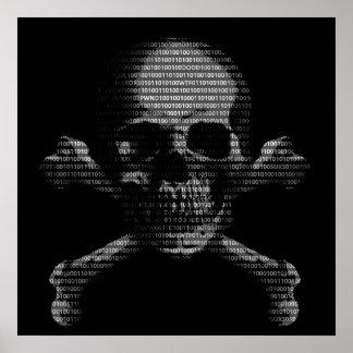 Hacker Skull and Crossbones Print