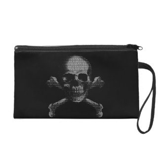 Hacker Skull and Crossbones Wristlet