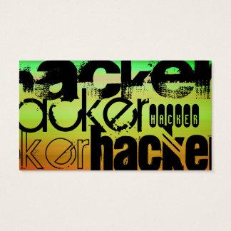 Hacker; Vibrant Green, Orange, & Yellow Business Card