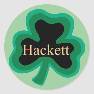 Hackett Family Round Sticker