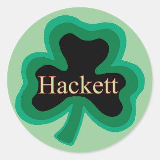 Hackett Family Round Sticker