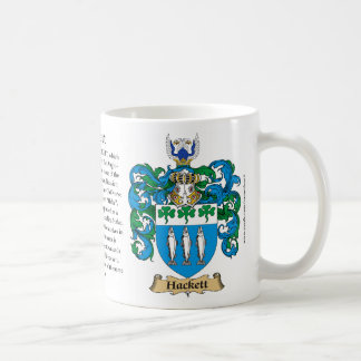 Hackett, the Origin, the Meaning and the Crest Basic White Mug