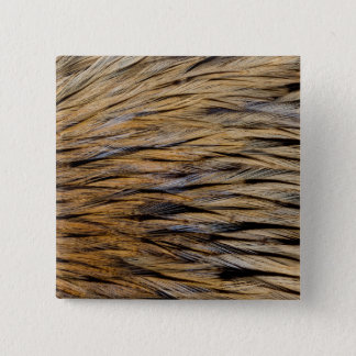 Hackle Feather Abstract 15 Cm Square Badge