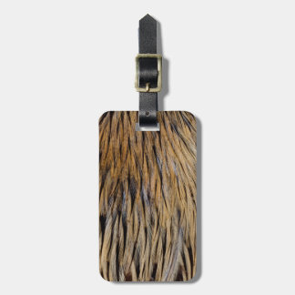 Hackle Feather Abstract Luggage Tag
