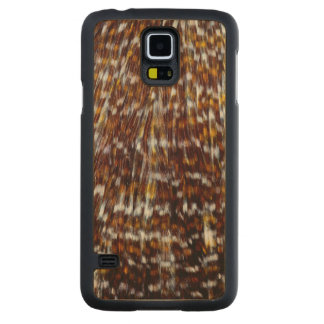 Hackle Feather Design Carved Maple Galaxy S5 Case