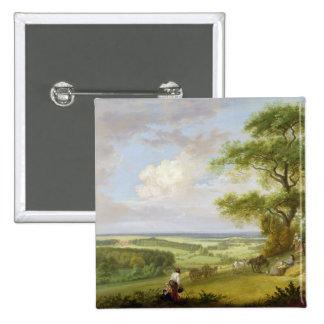 Hackwood Park, Hampshire (oil on canvas) 15 Cm Square Badge