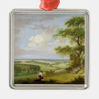 Hackwood Park, Hampshire (oil on canvas) Christmas Ornament
