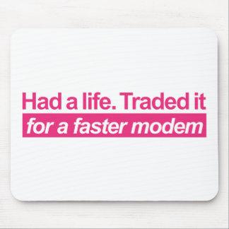 Had A Life - Pink Mousepads