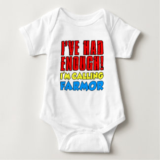 Had Enough Calling Farmor Baby Bodysuit