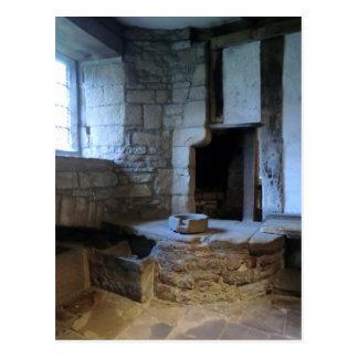 Haddon Hall Mediaeval Kitchen Postcard