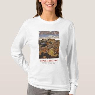 Hadrian's Wall and Sheep British Rail Poster T-Shirt