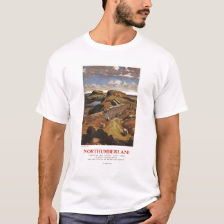 Hadrian's Wall and Sheep British Rail Poster T-Shirt
