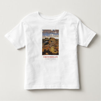 Hadrian's Wall and Sheep British Rail Poster Toddler T-Shirt