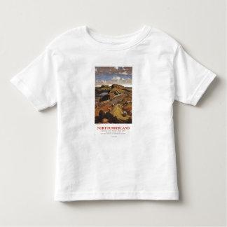 Hadrian's Wall and Sheep British Rail Poster Tshirt