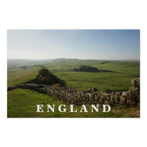 Hadrians Wall England Poster
