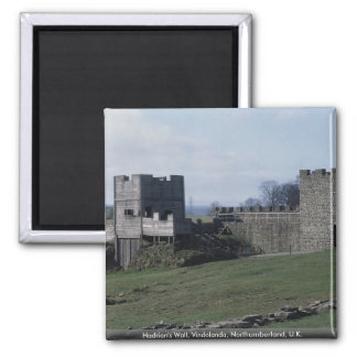 Hadrian's Wall, Vindolanda, Northumberland, U.K. Square Magnet