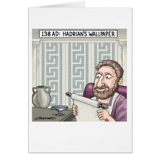 Hadrian's Wallpaper Greeting Card