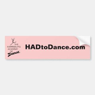 HADtoDance.com Bumper Sticker