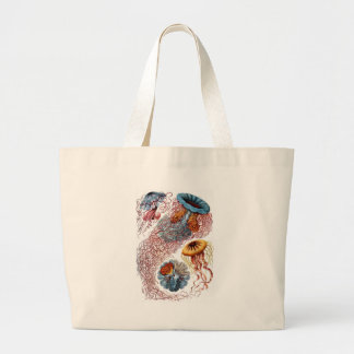 Haeckel Jellyfish Large Tote Bag