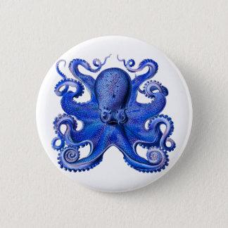 Haeckel Octopus Blue 6 Cm Round Badge