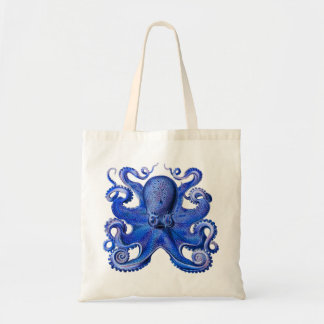 Haeckel Octopus Blue Tote Bag