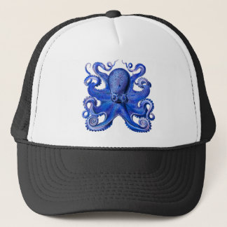 Haeckel Octopus Blue Trucker Hat